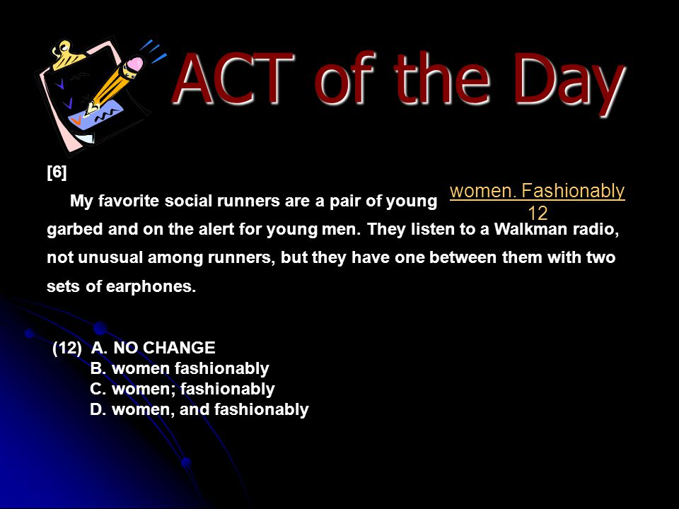 ACT of the Day women. Fashionably 12 [6]